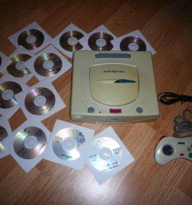 Sega Saturn (Японка) игровой комплект+подборка игр