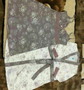Комлект халат + сорочка