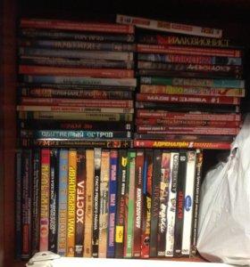 DVD-диски с фильмами (около 50-55шт)