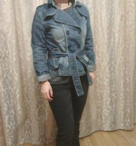 Куртка джинсовая.Пальто