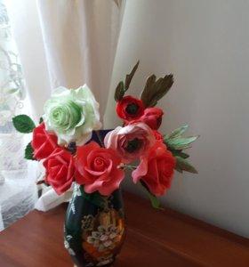 Лепка цветов из мастики