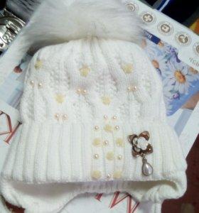 шапочка утепленная зима