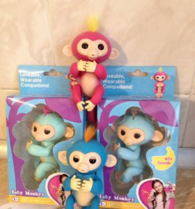 Интерактивная обезьянка  Monkey Fingerling