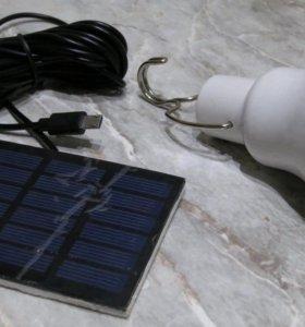 Лампа с солнечной панелью