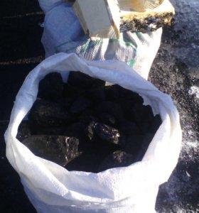 Уголь от мешка.