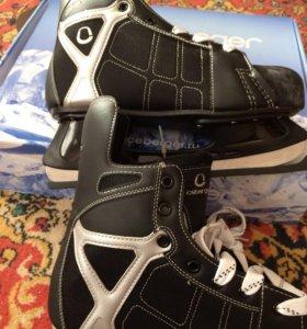 Коньки хоккейные новые размер 46 45 41