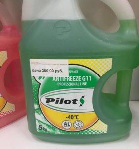 Антифриз PILOTS G11 Зелёный 5кг.
