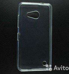 Cиликоновый чехол прозрачный на Nokia Lumia 550