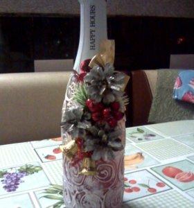 Декор шампанского и прочих подарков