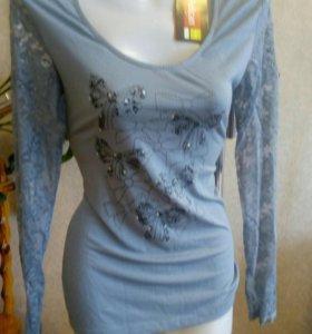 Блуза Пеликан, спина гипюр