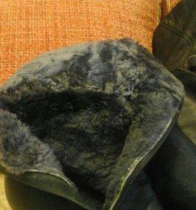Сапоги зимние женские. Натуральный мех и кожа.