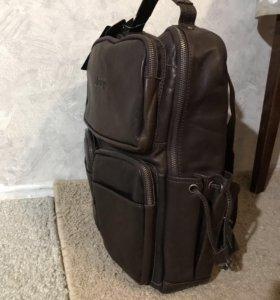 Мужской кожаный рюкзак !