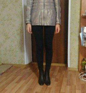 Кожаная куртка осень- теплая зима