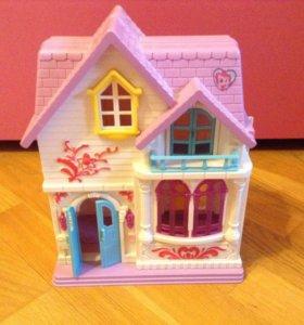 Дом замок для кукол. Раскладной.