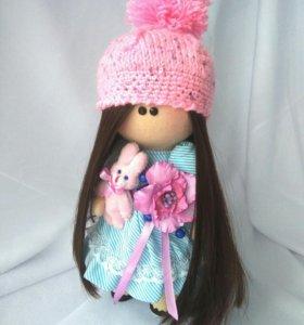 Кукла Снежка, интерьерная кукла