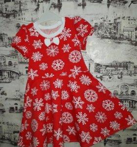 Новогодние детские платья