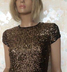 Платье 44р пайетки