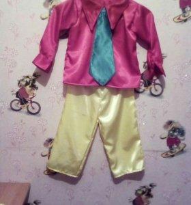 Новый , костюм Незнайка. На мальчика 3 лет.