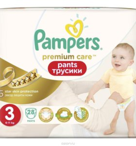 Трусики-подгузники Pampers Premium Care 3 28 шт.