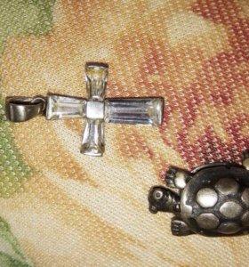 Серебро Кольцо подвески