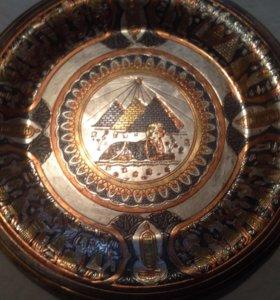 Настенная тарелка металическая