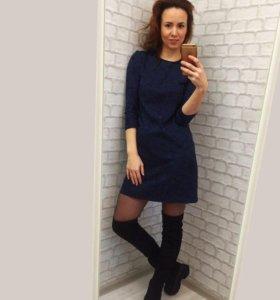 Платье синее новое 44р