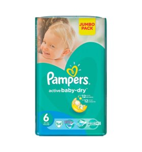 Подгузники Pampers Active Baby-Dry 6 54 шт