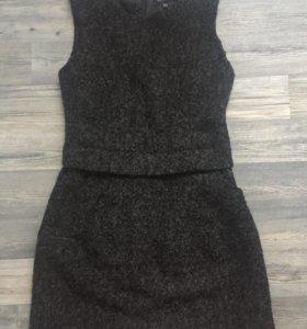 Платье сарафан шерстяное