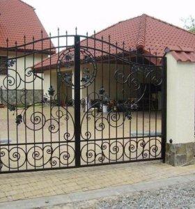 Стильные, добротные ворота