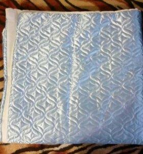 Одеяло на выписку с голубой лентой и уголком