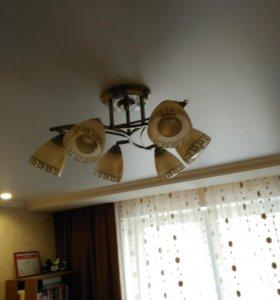 Люстра 6-ти рожковая с лампами