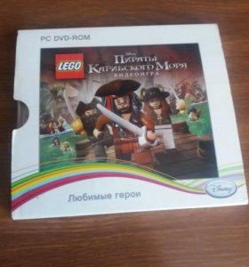 Диск с игрой lego Пираты Карибского моря