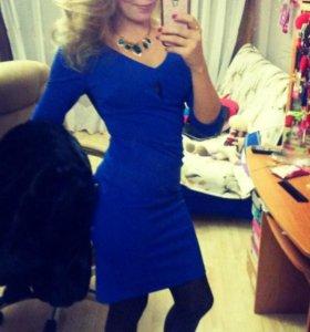 Синее вечернее платье 42-44