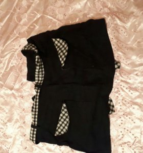 Юбка и джинсовые шорты