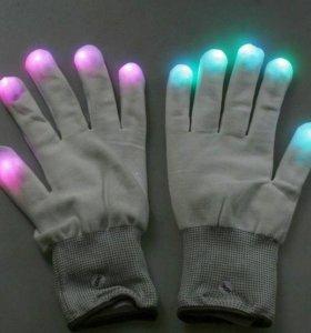 Перчатки со светодиодами