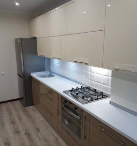 Кухонный гарнитур белый глянец капучино