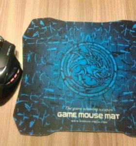 Мышь и коврик Ice Dragon var-361