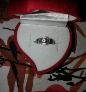 Кольцо серебряное размер 17