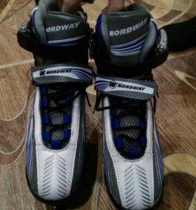 Коньки хоккейные раздвижные nordway 34-38