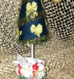 Топиарий - новогодняя ёлка 4