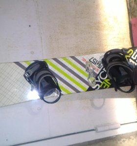 Сноуборд + ботинки