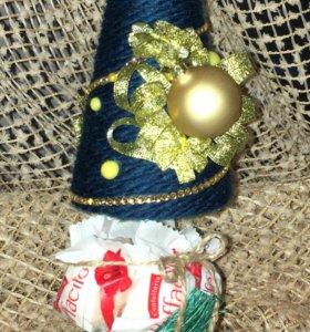 Топиарий - новогодняя ёлка 17