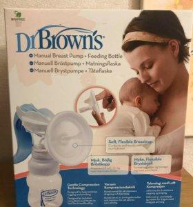 Ручной молокоотсос Dr Brown's (новый)