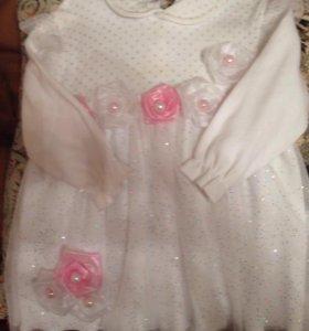 Нарядное платье рост 74-80