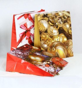 Новогодний подарочный пакет в ассортименте