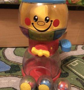 Fisher Price игрушка Бабл гамМашина автомат+3шара