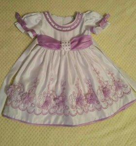 Нарядное платье 👗 1-1,5 года