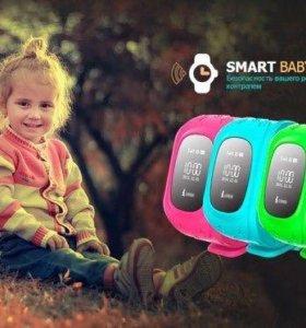 q50 детские часы smart baby watch gps