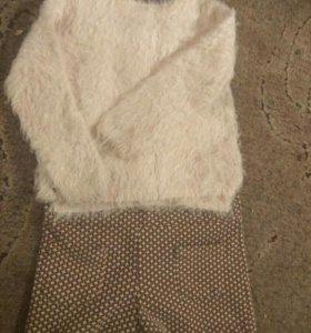 Мягкий теплый свитер h&m на девочку