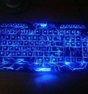 Игровая клавиатура с подсветкой мембранная